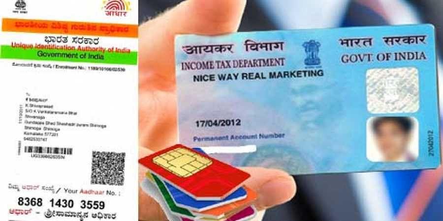 Now Aadhaar to be mandatory for SIM Card And Pan Card