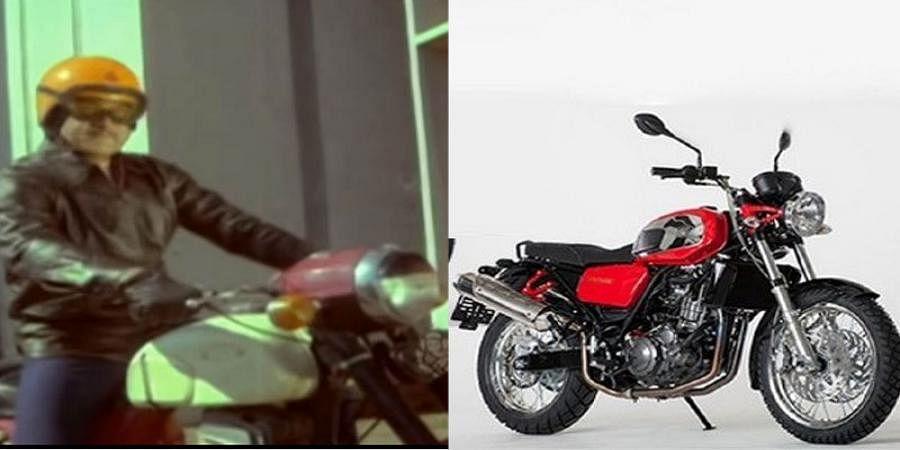 As Jawa bikes ready To hit Market, Bike Manufacturer Company Used Rajkumar movie na ninna mareyalare scenes for promotion