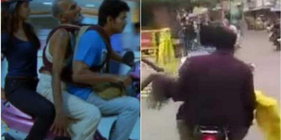 Two youths in Tamil Nadu saving the life of an old woman