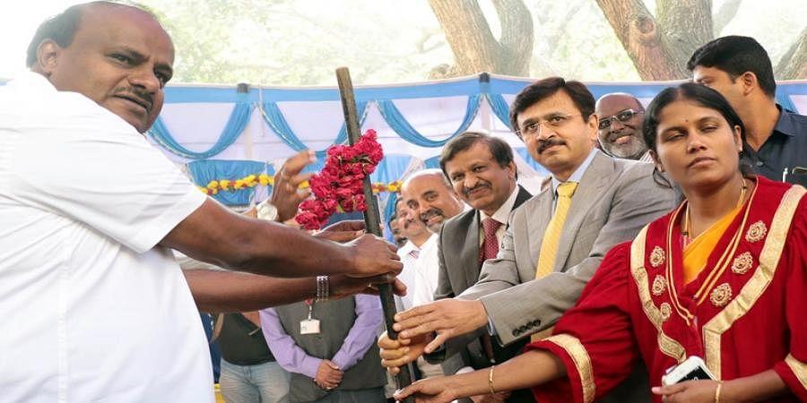 CM H D Kumaraswamy laid foundation stone for bone marrow transplant unit