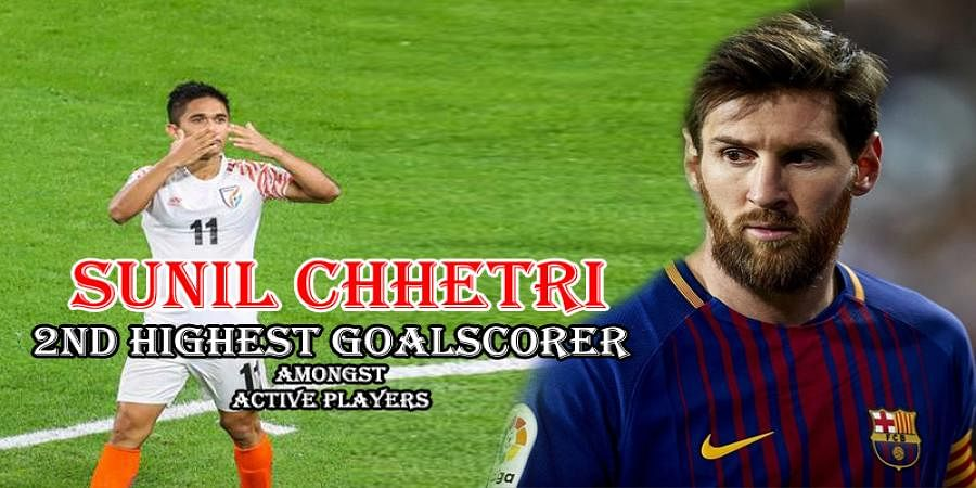 India's Sunil Chhetri Surpasses Lionel Messi To Become The 2nd Highest Goalscorer Amongst Active Players