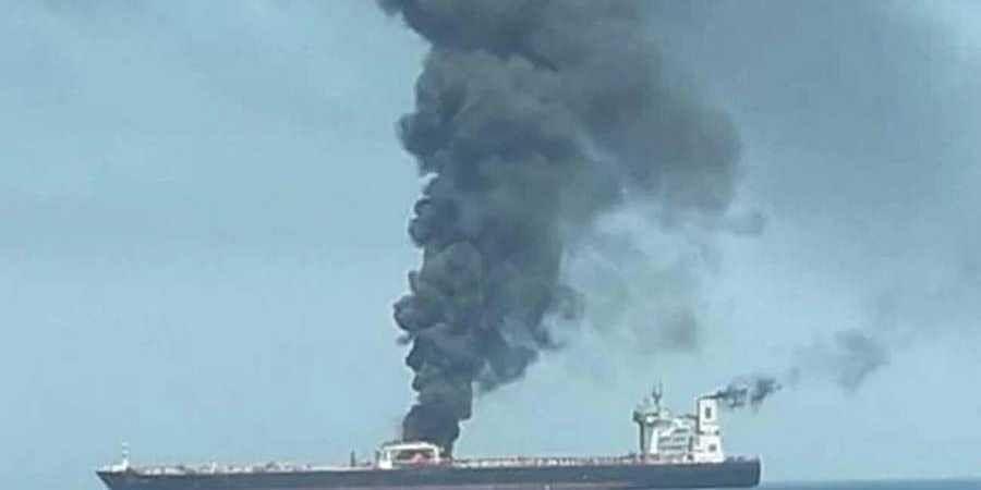 Blast Sets Iran Tanker On Fire Off Saudi, 2 Missiles Hit It