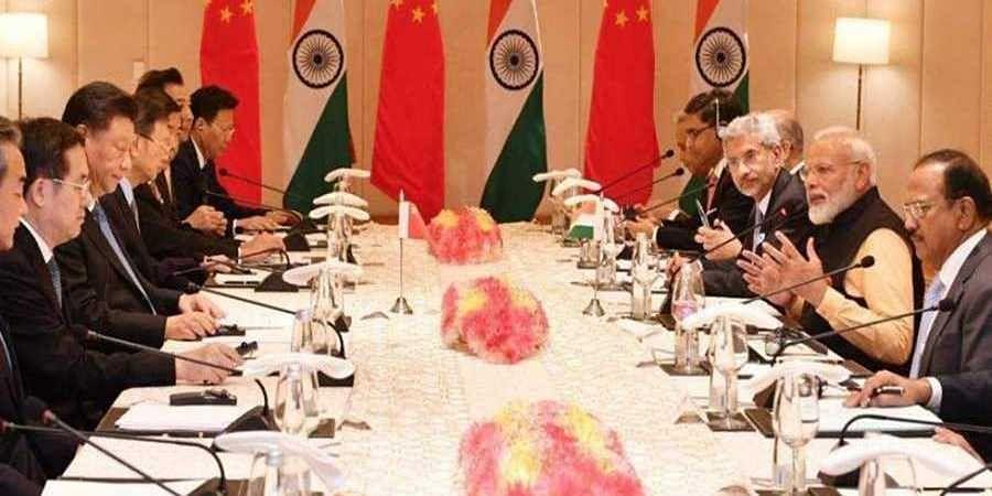 PM Narendra Modi and Chinese President Xi Jinping at delegation level talks in Mamallapuram