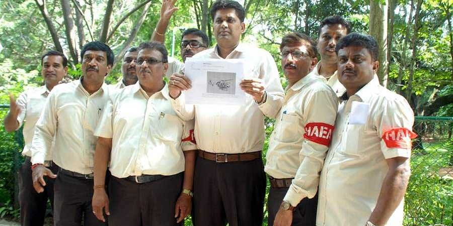 HAL Employees Strike In 3rd Day