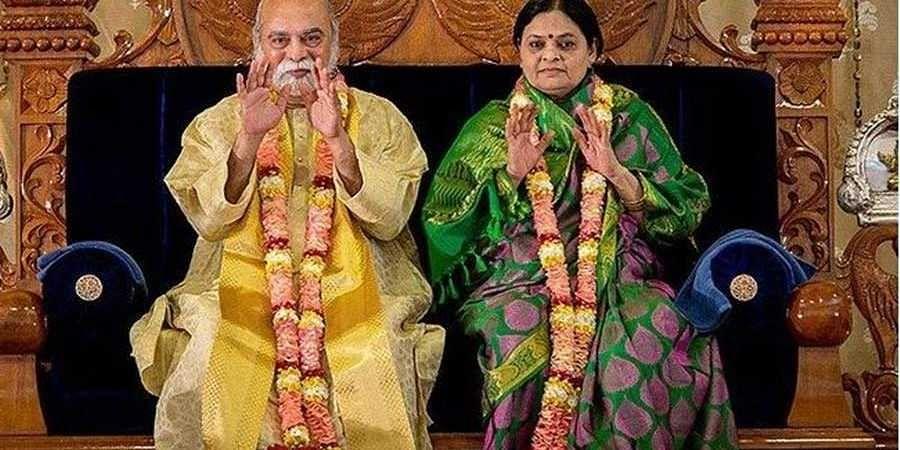 Kalki Bhagavan and his wife(File photo)