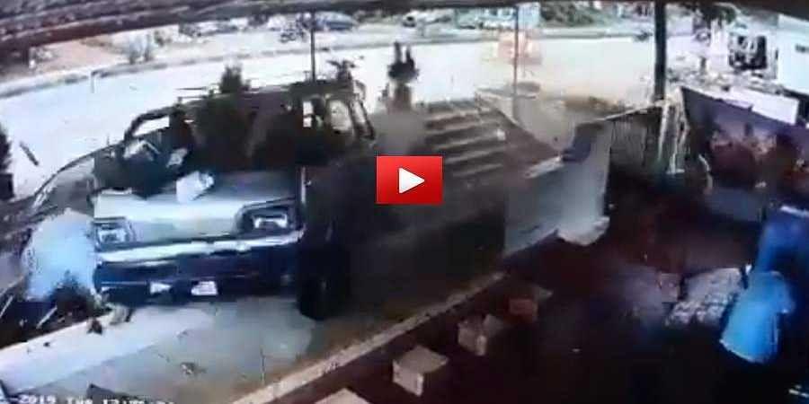 Car Accident CCTV Image
