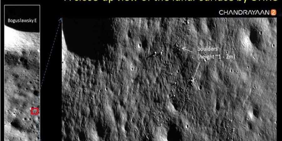 ISRO releases pictures of moon surface clicked by Chandrayaan 2 orbiter