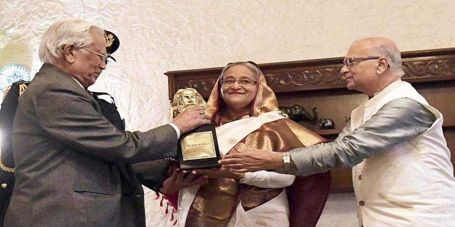 Sheikh Hasina honoured with Tagore Peace Award 2018