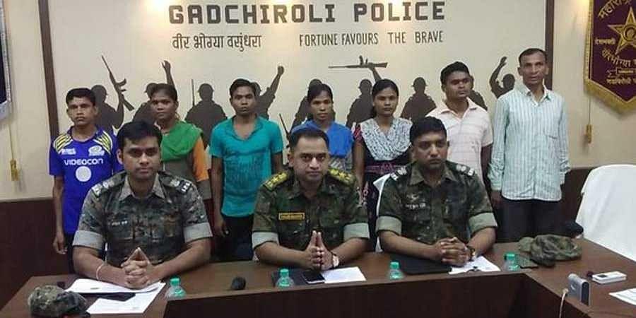 Naxals surrendered before Gadchiroli Police