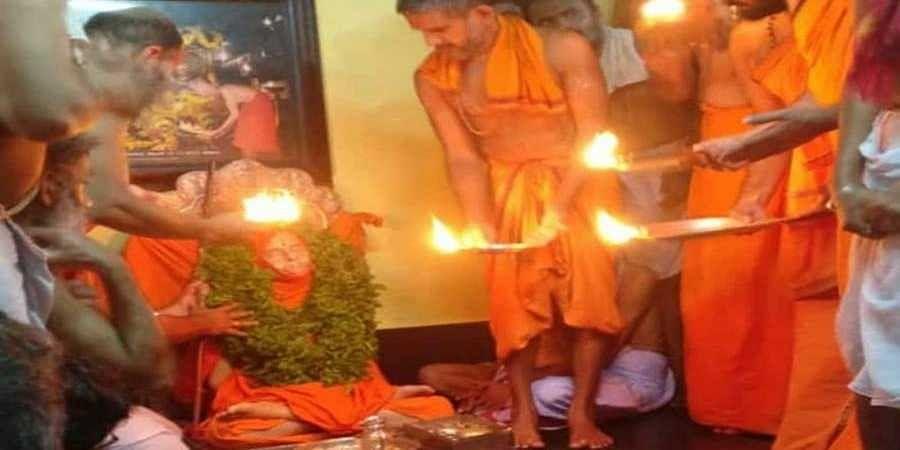 preparation starts for final rites of pejawar seer