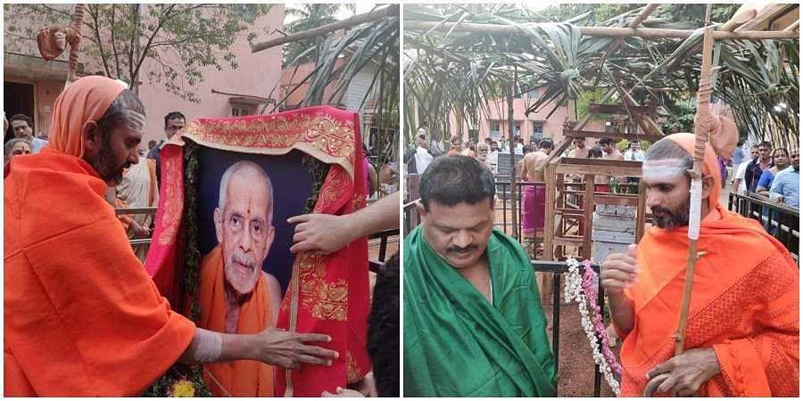Govindananda saraswati, representative of Shankaracharya swaroopananda saraswati visits brundavana of Pejavara seer