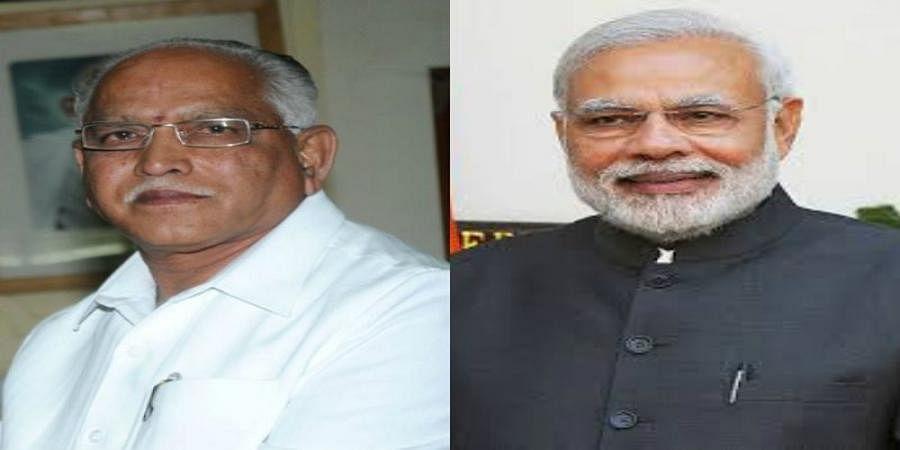Narendra Modi and Yeddyurappa,