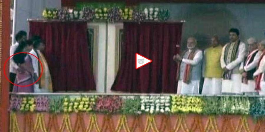 On Stage With PM Modi, Tripura Minister Groped Colleague, Video Shows