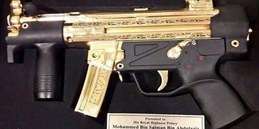 Pak gifts gold-plated assault rifle to Saudi Crown Prince
