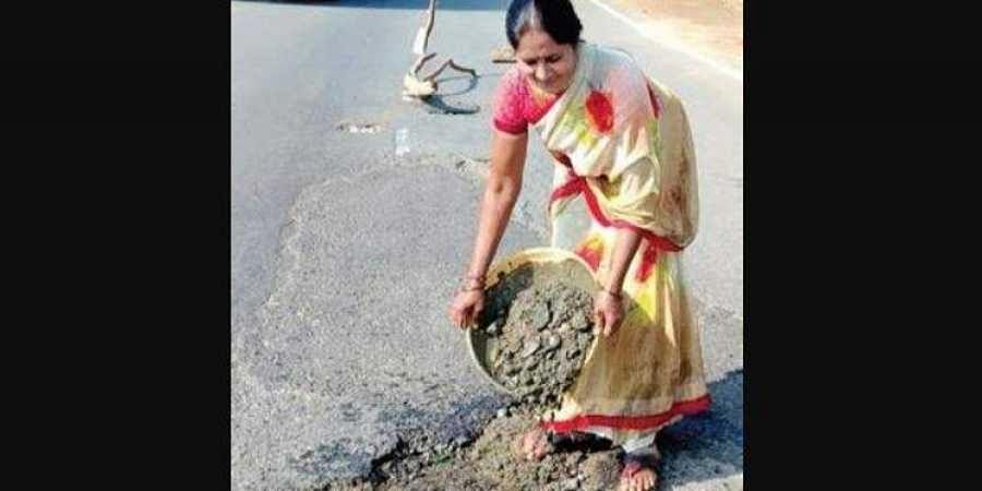 Telangana sarpanch shows the way, spends from own pocket to fix potholes