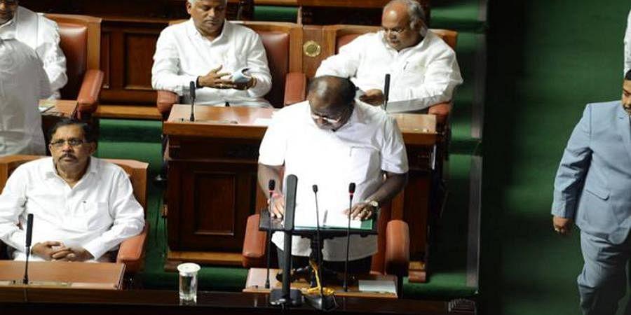 CM Kumaraswamy Presents budget 2019 amid walkout by BJP Members