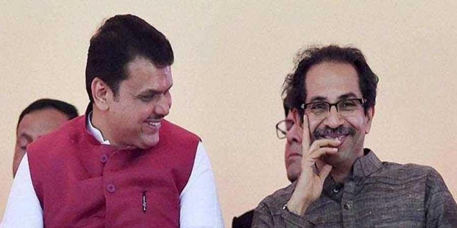 CM Devendra Fadnavis with Shiv Sena chief