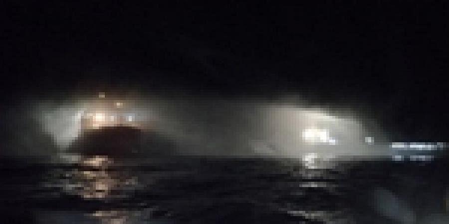 Coast Guard ships douse major fire on research vessel at Mangaluru