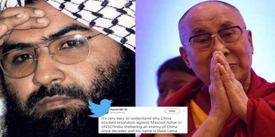 Is the Dalai Lama a terrorist? Twitterati slam Pakistan journalist who compared him to Masood Azhar
