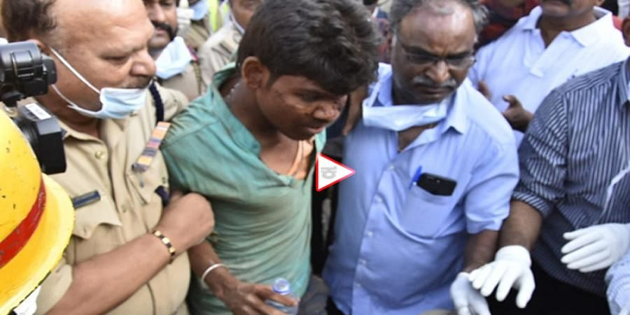 Man found alive 3 days after Dharwad building collapse