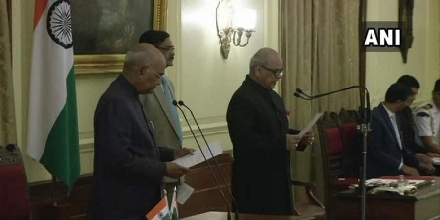 Justice Pinaki Ghose takes oath as the first Lokpal of India on 23 March 2019.