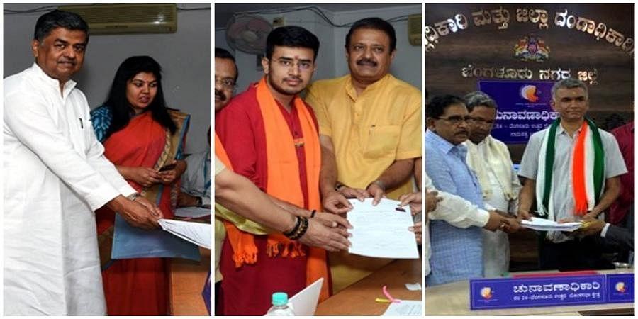 Krishna Byre Gowda, DK Suresh, other leaders file nominations on last day in Karnataka