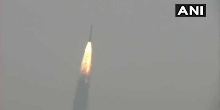 PSLVC45 lifts off from Satish Dhawan Space Centre, carrying EMISAT & 28 customer satellites.