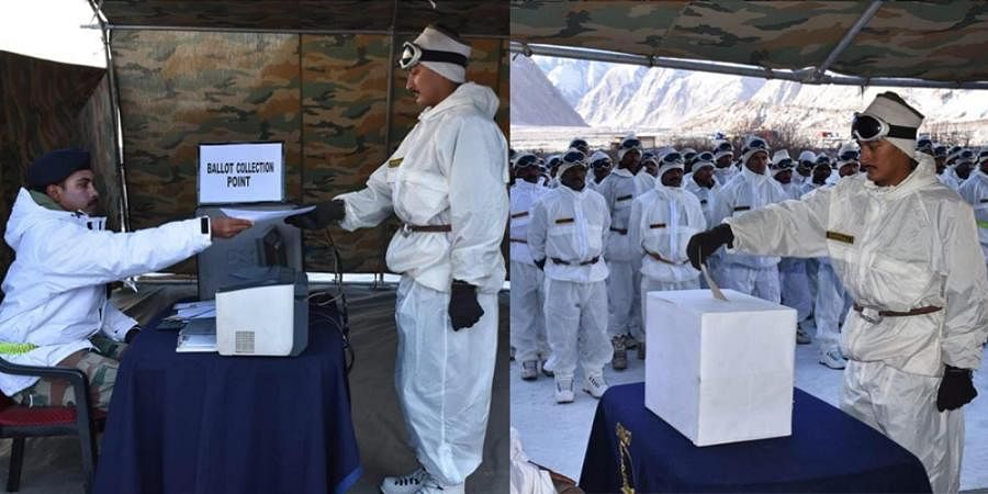 Army troops deployed in Siachen & along the LoC cast their vote
