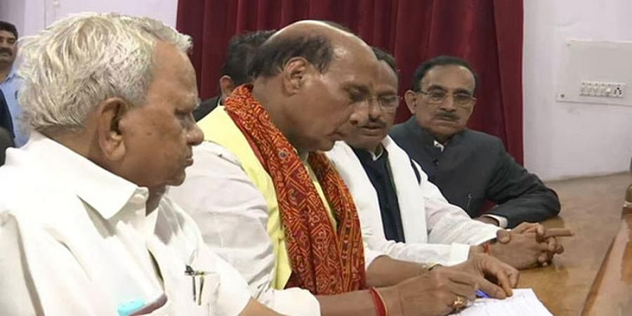LS Polls: Rajnath Singh files nomination from Lucknow