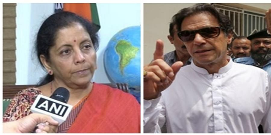 Nirmala Sitharaman  and  Imran Khan
