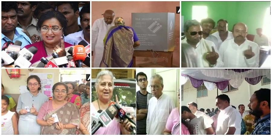VIP;s voted in various constituencies