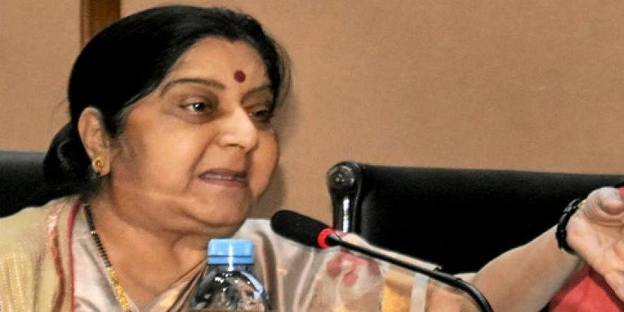 Union external affairs minister Sushma Swaraj