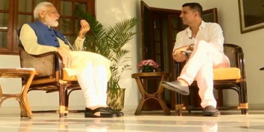 Narendra Modi and Akshay Kumar
