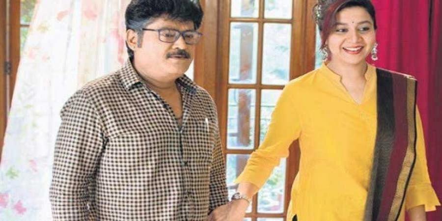 Jaggesh and Sudharani in Premier Padmini
