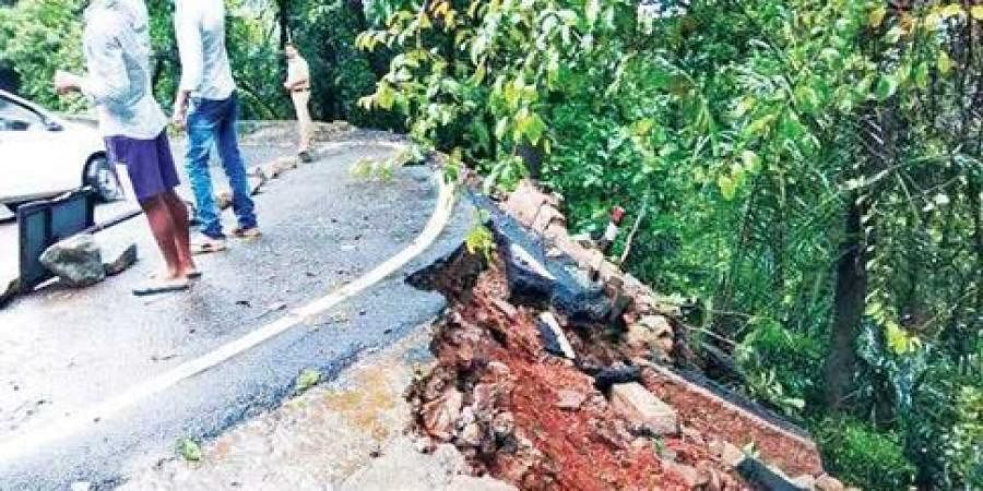 Landslide in Agumbe Ghat
