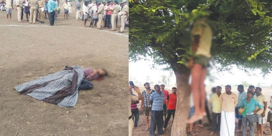 A man committed suicide after killed his friend at Gadag