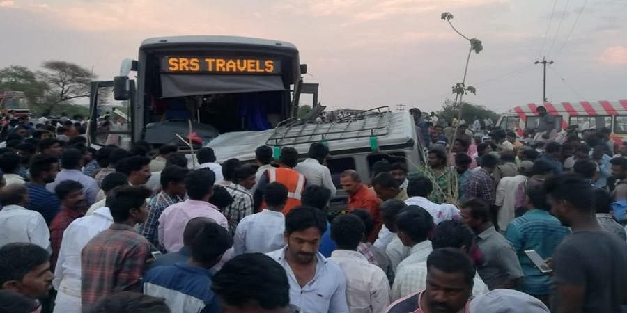 Andhra Pradesh: 13 people killed after bus collides with jeep