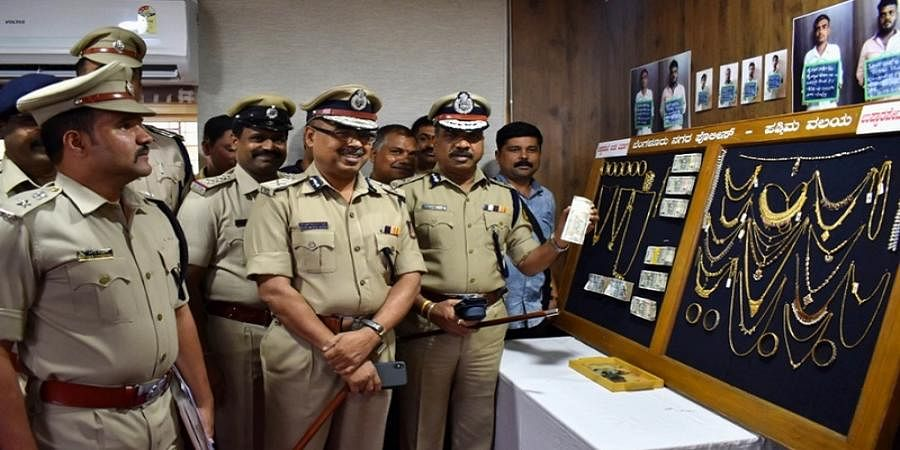 Bengaluru West division police arrest 14 thieves and recover 1 KG gold ornaments
