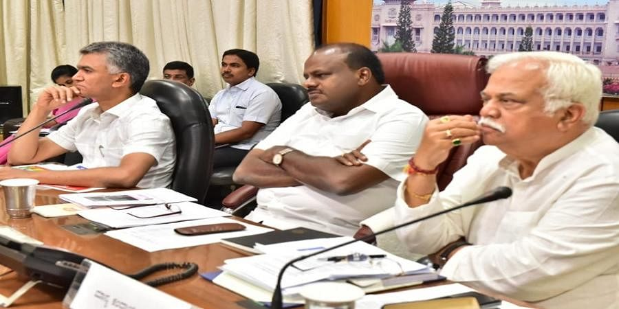 CM HD Kumaraswamy asks DC's, Zilla Panchayat CEO's to visit villages to check drought situation