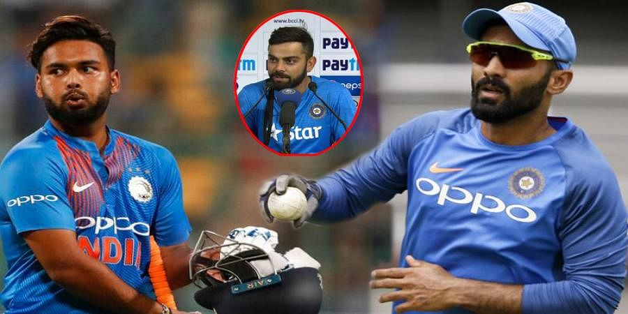 Dinesh Karthik pipped Rishab Pant because of experience, says Virat Kohli