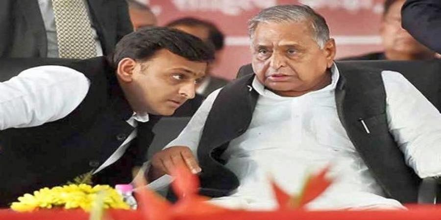 Akhilesh Yadav and Mulayam Singh Yadav