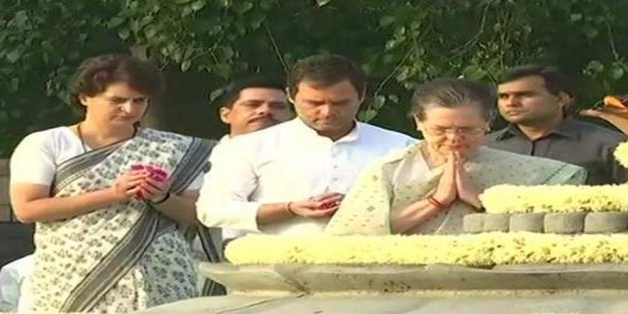 Sonia Gandhi, Rahul, Priyanka