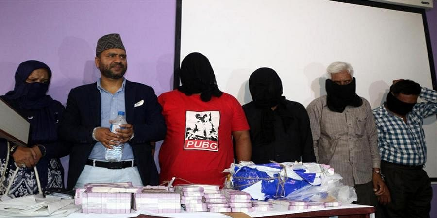 Nepal Police arrested 4 Pakistanis and 2 Nepalis in possession of Fake Indian Currency Notes