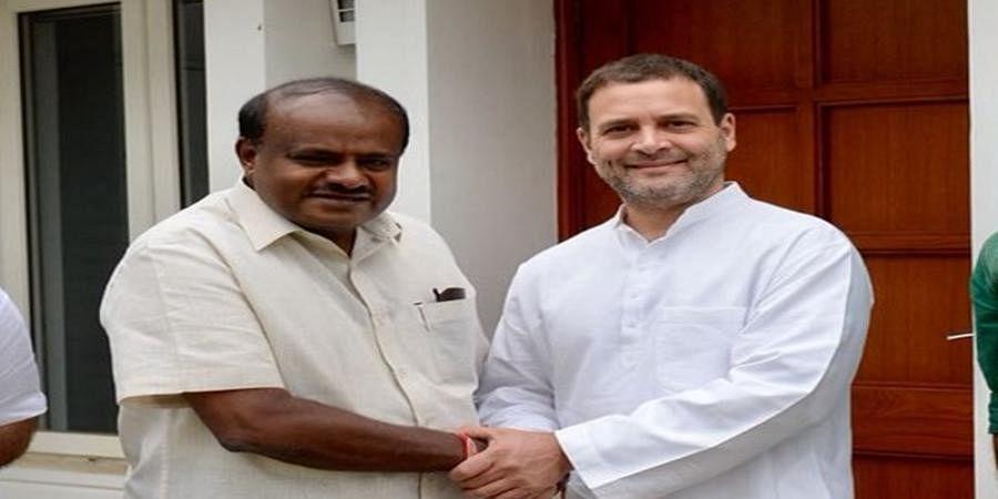 CM HD Kumaraswamy decides to resign, but Rahul Gandhi stops