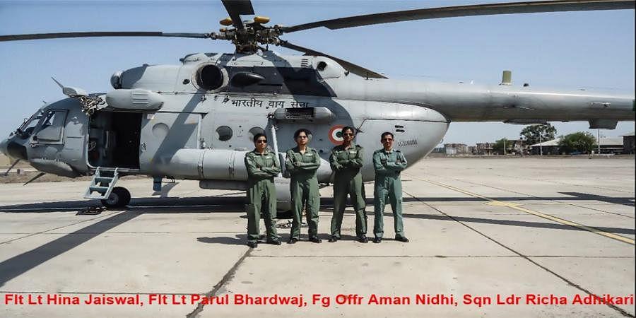 Indian Air Force all-women crew flies Mi-17 chopper for first time