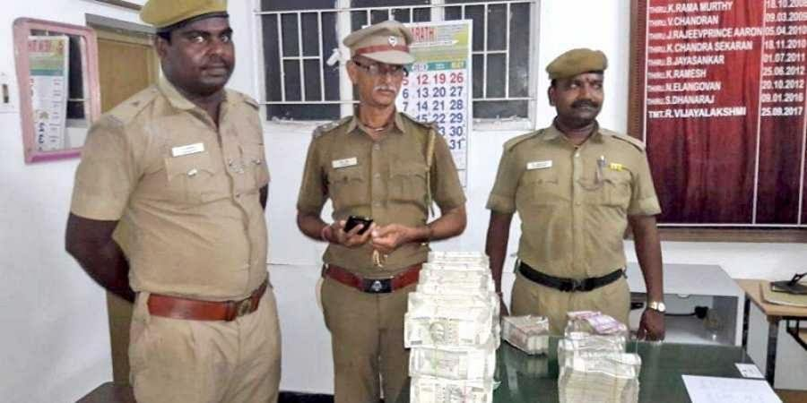 Police with Stolen Money