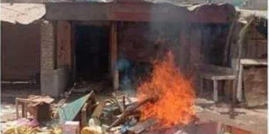 A shop owned by hindu is burnt