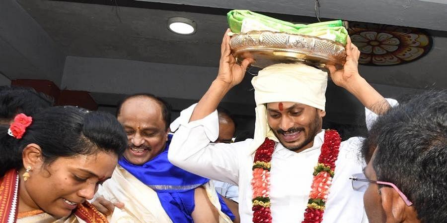 Jagan Mohan Reddy in Tirupati