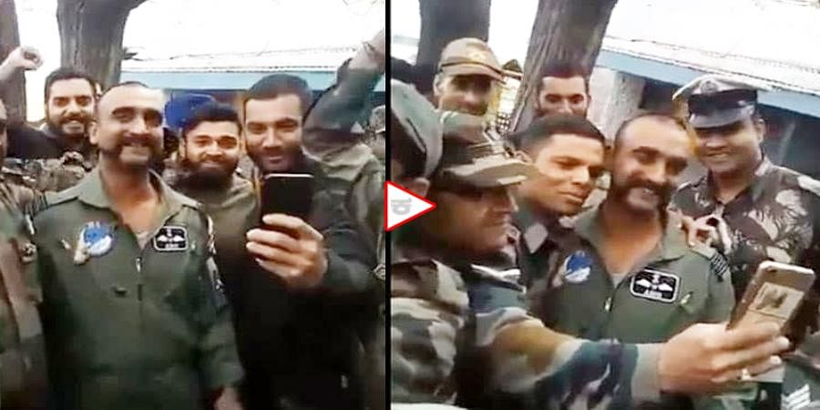 Video: Wing Commander Abhinandan Varthaman interacting with his colleagues in Jammu and Kashmir