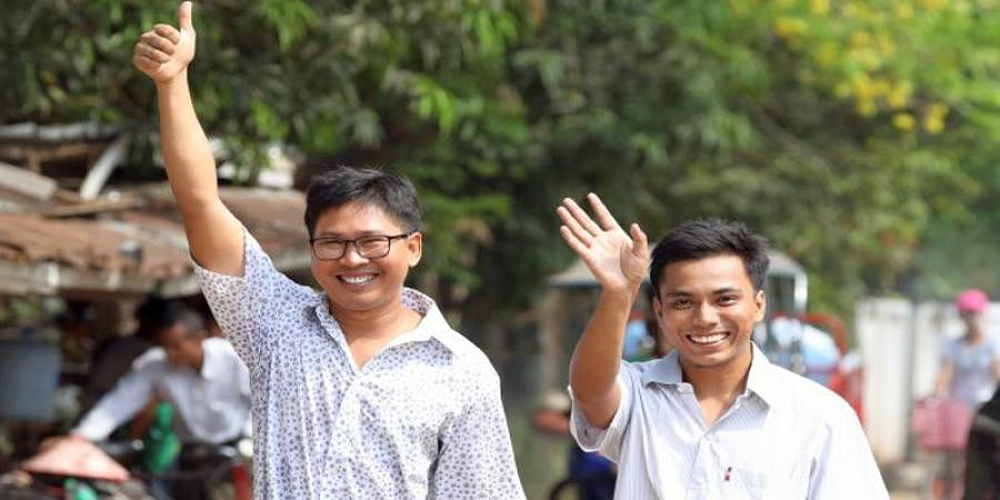 Jailed for 500 days in Myanmar, Reuters Journalists freed